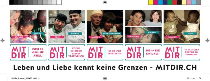 Crowdfunding-Inserat der Kampagne www.mitdir.ch